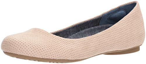 Women's Friendly2 Shoes perforated Dr Scholl's microfiber Flat blush Ballet 6qRtaSt