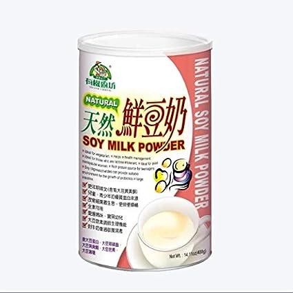 Natural de soja leche en polvo (400g/14.1OZ/Tin): Amazon.com ...