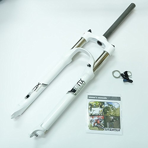SR Suntour XCR RL Air Spring MTB Bike Fork (29'', White, 1 1/8'', 100mm, Disc Brake, Remote Lockout, QR 9mm) by SR Suntour