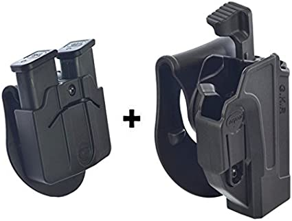 Tactical Magazine Pouch Nylon Pistol Double Stack 9mm Concealed Carry HolsTS