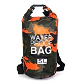 Pandamama Outdoor Camouflage Portable Rafting Diving Dry Bag Sack PVC Waterproof Folding Swimming Storage Bag for River Trekking