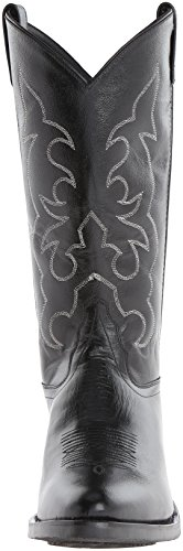 Old West Mens Läder Cowboy Arbete Stövlar - Black9.5 D (m) Oss