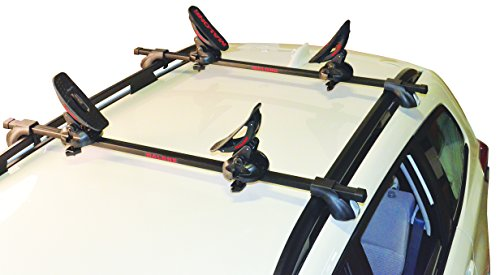 Malone Saddle Up Pro Universal Car Rack Kayak Carrier (Set of 4) with Bow and Stern Lines by Malone