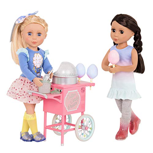 """Glitter Girls by Battat - Cotton Candy Machine On Wheels for 14"""" Dolls - Toys, Clothes, & Accessories for Girls Ages 3 & Up"""