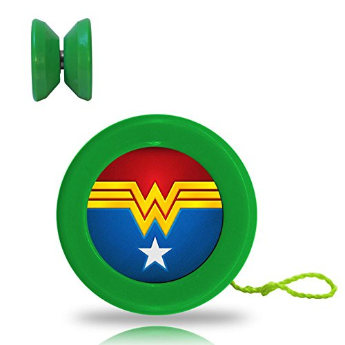 [Wonder Woman Logo Responsive YoYo King with Ball Bearing Axle and Extra String Green] (All Costumes For God Of War 3)