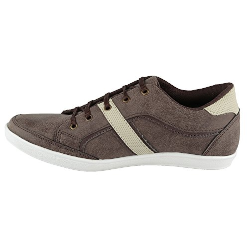 Hi-Attitude Men's Brown Synthetic Casual Shoes (450077692007) – 6 UK