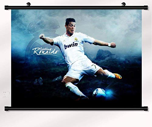 bribase shop Cristiano Ronaldo Poster with Wall Scroll 22 inch x 16 inch - Scroll Cristiano