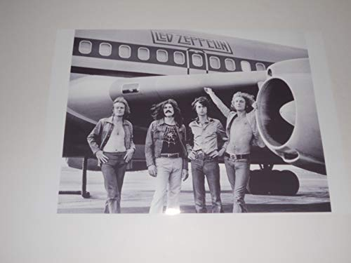"""Cleveland Vinyl Large Led Zeppelin with Plane Jimmy Page, Plant 1973 USA Tour Starship Poster 19""""x13"""""""
