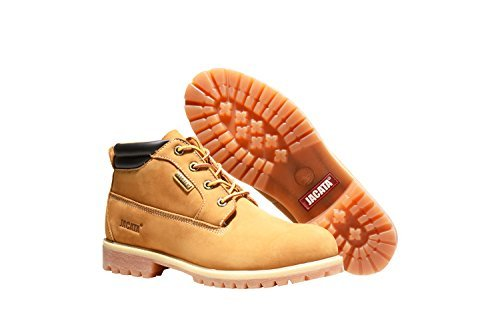 Jacata Men's Low-Cut 3 inch Work Boots Water Resistant Boots Heavy Duty Natural Rubber Blend Soles (11, Wheat) by Jacata by NYC Tough Boot Company