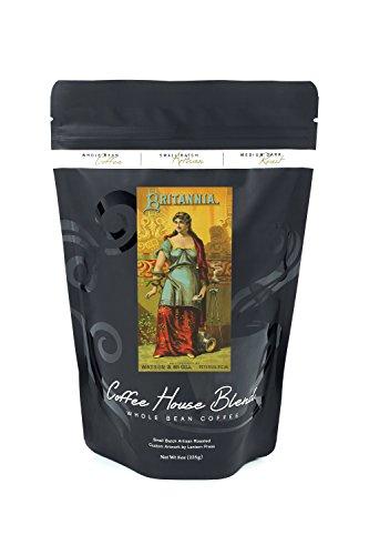 Petersburg, Virginia - Britannia Brand Tobacco Label (8oz Whole Bean Small Batch Artisan Coffee - Bold & Strong Medium Dark Roast w/ - Wall Britannia Medium