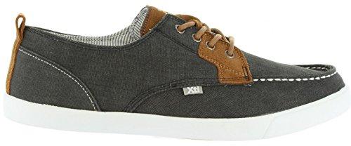 XTI Zapatos de Hombre 46476 Lona Negro