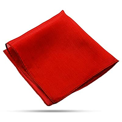 Magic Makers Professional Grade 6 Inch Magician's Silk - Red: Toys & Games