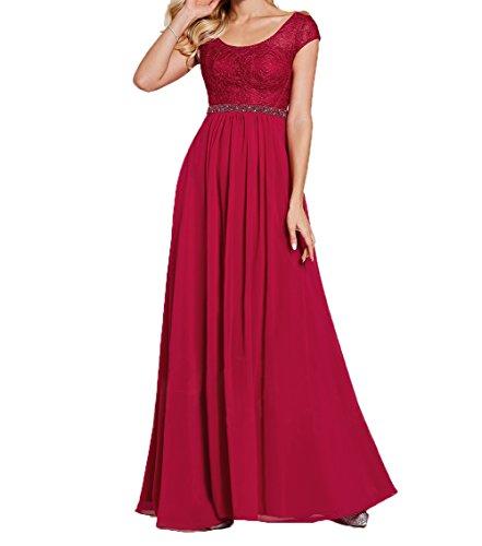 Langes Partykleider Abschlussballkleider Abendkleider Rot A Dunkel Linie Rock Damen Festlichkleider Ballkleider Spitze Charmant Elegant xqBEpZwY