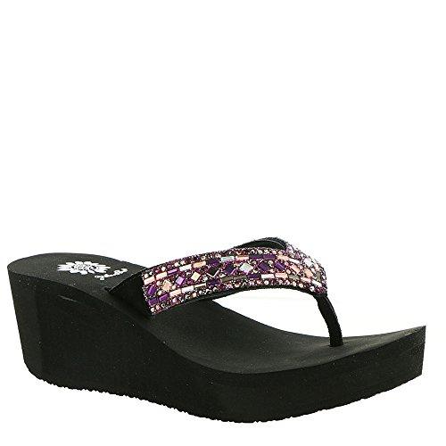 Yellow Box Women's Alistaire Purple Multi 8 M (Multi Wedge Sandal)
