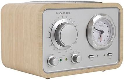 Tangent Duo Radio AMFM compact Puissance 2x5W Horloge Chêne