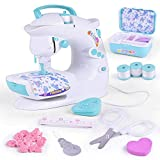 Alapaste Portable Sewing Machine Mini Electric Crafting Mending Machine with Light and Sound Children Present for Household Travel Beginner