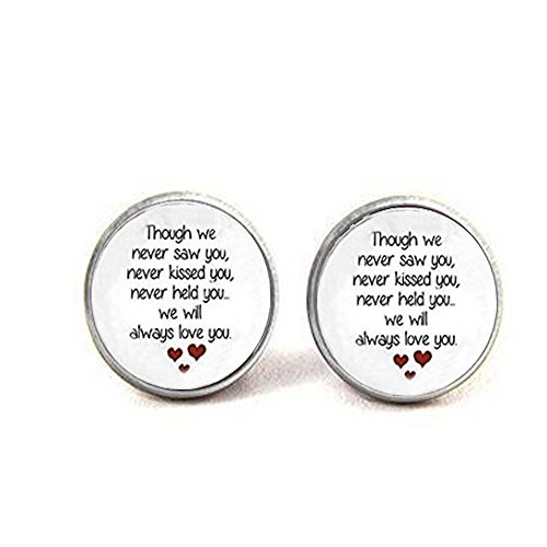 ass Miscarriage Keepsake Pendant earrings - Loss of Unborn Baby -Miscarriage Necklace earrings ()