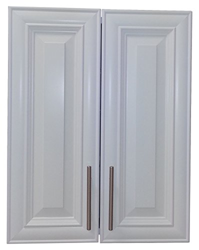 Wood Cabinets Direct TER-634-WH Terrell 2-Door on The Wall Frameless Medicine Cabinet, 3.5″ x 34″, White
