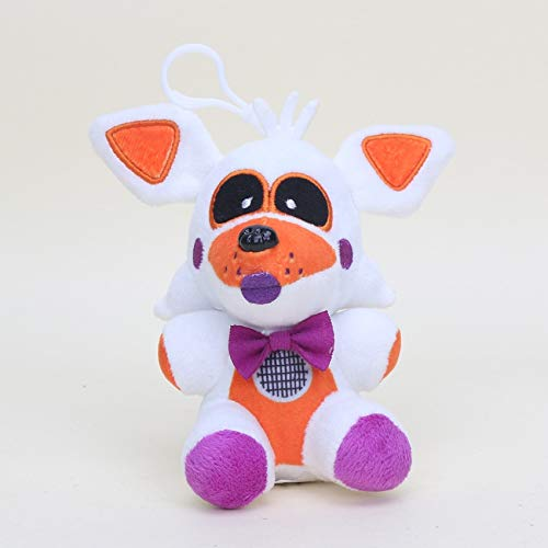 papeo FNAF Plushies 5-10 inch Big Plush Keychain Toy Huggable Small Stuffed Toys Doll Gift Christmas Halloween Birthday Gifts Cute Collection Collectible Fazbear for Kids Adults]()