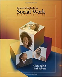 Research methods for social work by rubin babbie 6th sixth research methods for social work by rubin babbie 6th sixth edition allen rubin earl r babbie 9780495100775 amazon books fandeluxe Choice Image