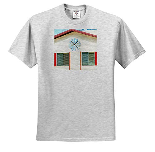 Pine Shutter - Jos Fauxtographee- Home Front - The Front of a Home with a Decoration on it and red shutters - T-Shirts - Toddler Birch-Gray-T-Shirt (4T) (ts_288637_33)