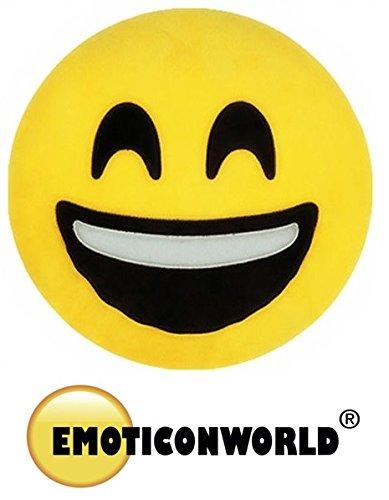EMOTICONWORLD COJIN EMOTICONO SONRISA 32 CM: Amazon.es ...