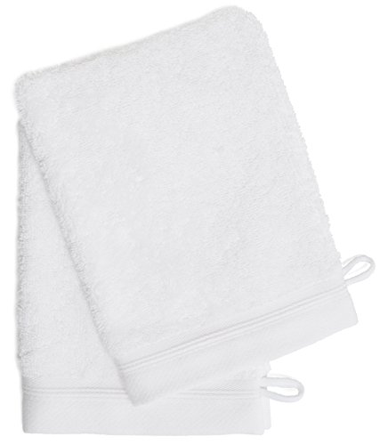 Wash Mitt Terry - France Luxe Body French-Style Bath Mitt 2-Pack - White/White