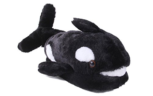 Girls Whale (Happy Feet 9046-4 - Whale - X Large Animal Slippers)