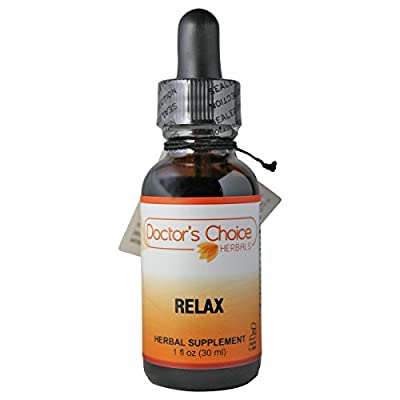 Doctor's Choice Organic Relax Liquid Herbal Supplement with Valerian, Hops Strobiles, Vanuatu Kava, Passion Flower, Chamomile, Lobelia, and Pulsatilla, 30ml, Kosher – PREMIUM QUALITY – Glass Bottle.