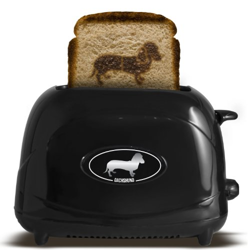 Pangea Brands TSTE-PET-DACH 2-Slice Pet Emblazing Toaster, Dachshund