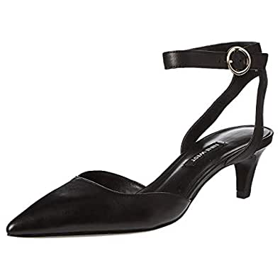 Nine West Quinteena Strap Heel For Women, 39 EU BLACK