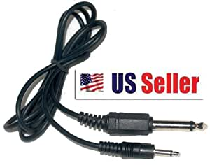 """Mono 3.5mm Male To 1/4 inch Male Audio Cable Adapter 1/8"""" to 6.35mm """"About 3FT"""""""