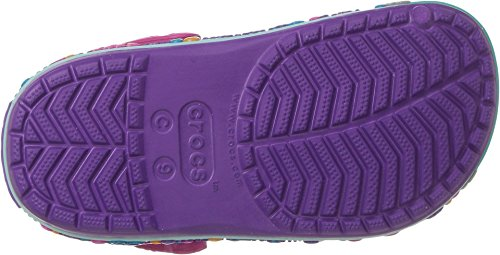 Crocs Unisex-Baby Crocband Fun Lab Butterfly Graphic Clog, Amethyst/Purple, 5 M US Toddler by Crocs (Image #2)