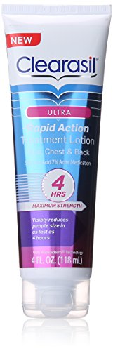 Clearasil Ultra rapide Action traitement Facial hydratant Lotion, 4 onces