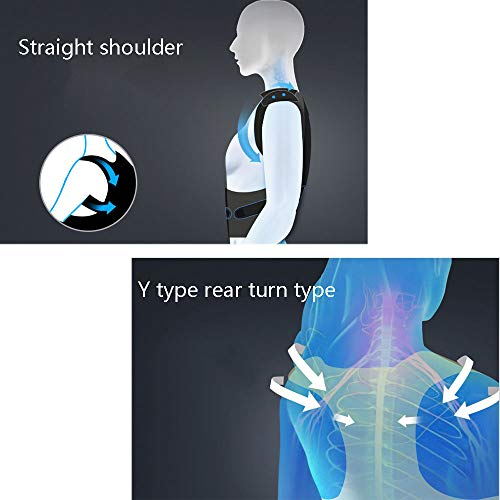 WYNZYHY Medical Belt, Lumbar Disc Lumbar Muscle Strain Male and Female Medical Posture Correction Clothing Hunchback Correction (Color : Aluminum Clause, Size : L) by WYNZYHY (Image #1)