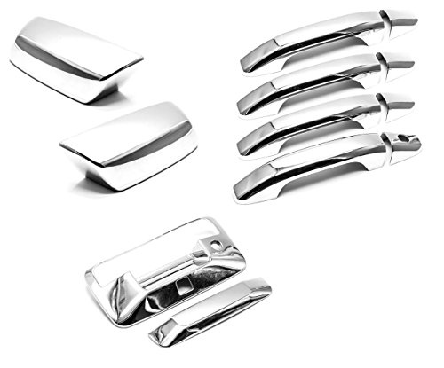 Sizver Chrome Combo Set Covers For Chevy Silverado 1500 Crew/4DR Model Only
