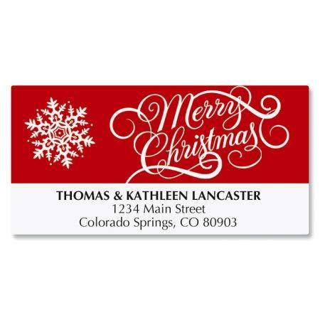 amazon com merry christmas personalized holiday return address