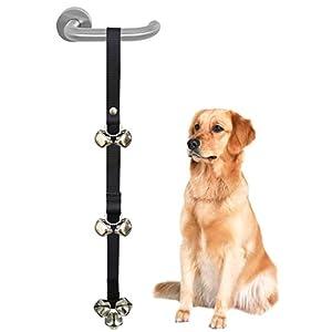 CandyHome Potty Doorbells Housetraining Dog Doorbells Tinkle Bells for House Training, Dog Bell with Doggie Doorbell, Easy 95% Success Rate, Black
