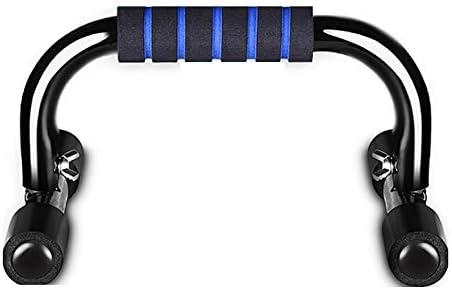 2個セット プッシュアップバー スチール押し上げは、ハンドルと運動トレーニングボディビルディング機器スタンド 腕立て伏せ筋力アップ器具 (色 : Blue, Size : 23x15cm)