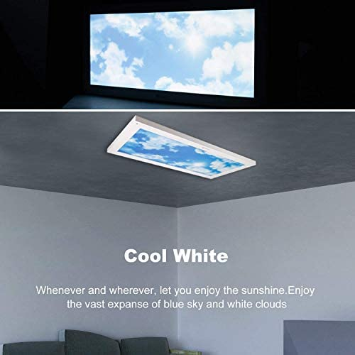Awenia Lámpara de Techo LED Regulable 24W Plafón de Superficie Panel LED de Pared, para Habitación Dormitorio Pasillo, 60x30cm, 4000-6500K 2400Lúmenes Blanco Frío: Amazon.es: Iluminación