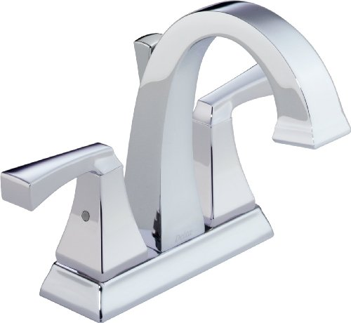 Delta Faucet Dryden 2-Handle Centerset Bathroom Faucet with Diamond Seal Technology and Metal Drain Assembly, Chrome 2551-MPU-DST