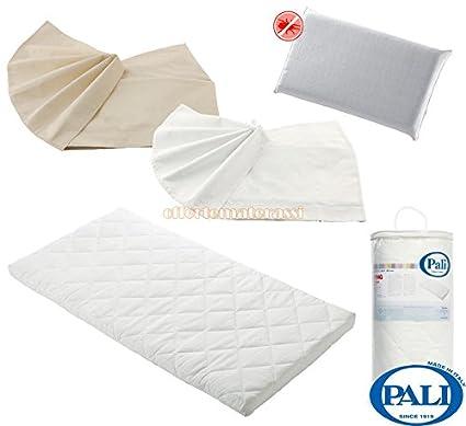 colchón Pali Camping + almohada de espuma antiácaros + 2 sábana inferiores con esquinas