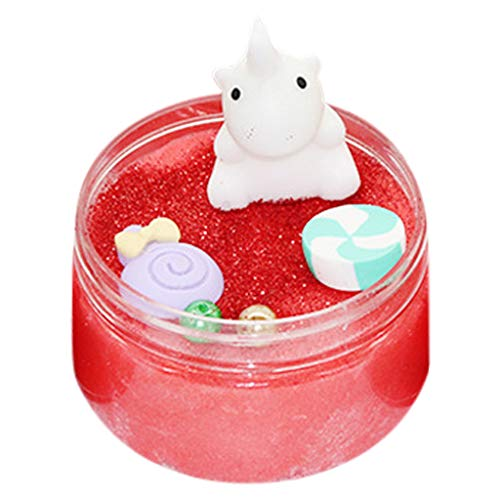 VOWUA Slime Small Animals Glossy Pearl Cotton Mud Butter Slime Putty Scented Stress Relief Clay ()