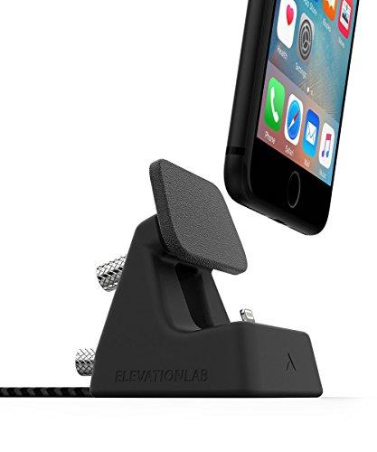 ElevationDock 4 - Apple MFi-Certified iPhone Dock with one-Hand undocking & Precise Adjustment. [MatteBlack]