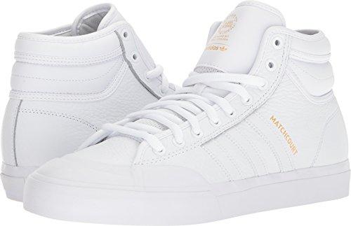 Adidas Uomo Skateboard Matchcourt Alta Rx2 Calzature Bianco / Calzature Bianco / Oro Metallizzato