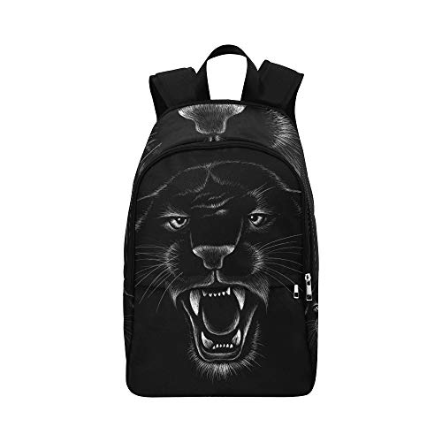 VvxXvx Black Jaguar Panther Beautiful Eyes Casual Daypack Travel Bag College School Backpack for Mens and Women]()