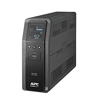 APC UPS BR1000MS, 1000VA Sine Wave UPS Battery Backup & Surge Protector, AVR, (2) USB Charger Ports, Back-UPS Pro Uninterruptible Power Supply