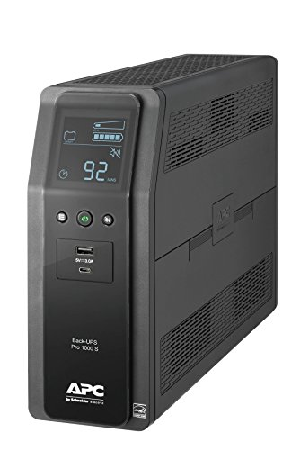 APC Sine Wave UPS, 1000VA UPS Battery Backup & Surge Protector, Back-UPS Pro Uninterruptible Power Supply (BR1000MS)