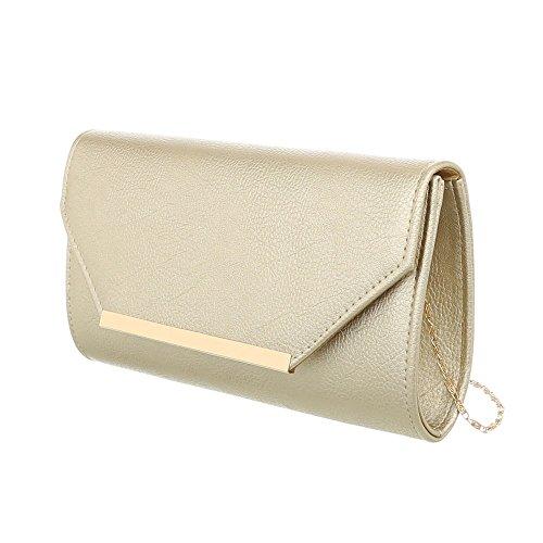 Damen Tasche Handtasche Abendtasche Schultertaschen Umhängetasche Shopper Tasche Henkeltasche Beuteltasche Gold