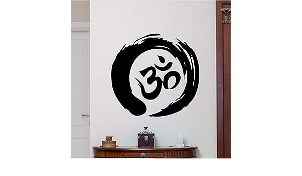 Xzfddn Decoración Para El Hogar Zen Circle Om Symbol Tatuajes De ...